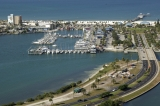 aerial imagery of Clearwater Municipal Marina Clearwater FL US