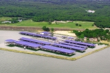 aerial imagery of Eagle Mountain Marina Ft. Worth TX US