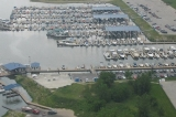 aerial imagery of Saylorville Lake Marina Polk City IA US