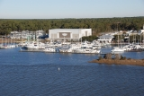 aerial imagery of Southport Marina Southport NC US