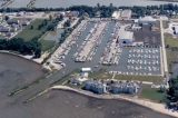 aerial imagery of Lakefront Marina Port Clinton OH US