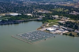aerial imagery of Sandusky Harbor Marina Sandusky OH US
