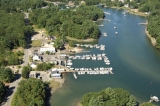 aerial imagery of Witch Cove Marina Portsmouth NH US