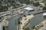 aerial imagery of Trail Creek Marina Michigan City IN US