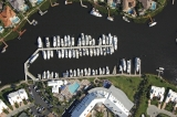 aerial imagery of Admiral's Cove Marina Jupiter FL US