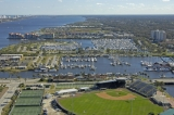aerial imagery of Halifax Harbor Marina Daytona Beach FL US