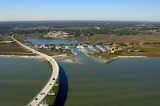 aerial imagery of Camachee Cove Yacht Harbor and Yacht Yard  St Augustine FL US