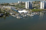 aerial imagery of Snook Bight Marina Fort Myers Beach FL US