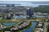 aerial imagery of The Marina at Cape Harbour Cape Coral FL US