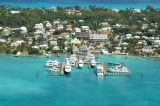 aerial imagery of Valentine's Resort & Marina Harbour Island North Eleuthera, Bahamas BS