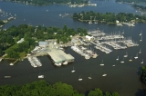 aerial imagery of Hartge Yacht Harbor Galesville MD US