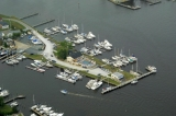 aerial imagery of Solomons Yachting Center Solomons MD US