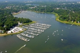 aerial imagery of Apponaug Harbor Marina Warwick RI US
