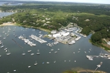 aerial imagery of Kingman Yacht Center Cataumet MA US