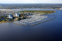 aerial imagery of Marina Bay On Boston Harbor Quincy MA US