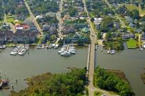 aerial imagery of Manteo Waterfront Marina  Manteo NC US