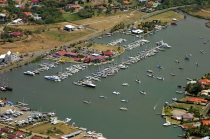 aerial imagery of Rodney Bay Marina Castries St. Lucia, West Indies LC