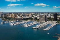 aerial imagery of Palm Harbor Marina West Palm Beach FL US
