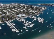 aerial imagery of Sailfish Marina Resort West Palm Beach FL US