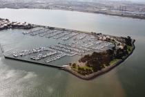 aerial imagery of Emeryville Marina Emeryville CA US