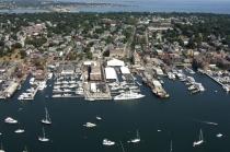 aerial imagery of Newport Yachting Center Marina Newport RI US