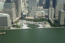 aerial imagery of North Cove Marina at Brookfield Place  New York NY US