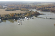 aerial imagery of Hack's Point Marina Earleville MD US