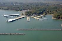 aerial imagery of Kentucky Dam Marina Gilbertsville KY US