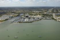 aerial imagery of Harbortown Marina - Fort Pierce Fort Pierce FL US