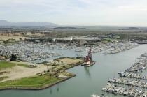 aerial imagery of Ventura Isle Marina Ventura CA US