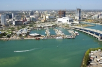 aerial imagery of Miamarina at Bayside in the heart of Miami Miami FL US