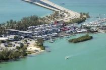 aerial imagery of Marine Stadium Marina  Key Biscayne FL US