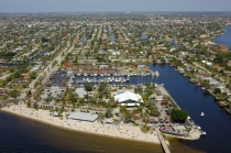 aerial imagery of Cape Coral Yacht Basin Cape Coral FL US