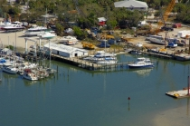 aerial imagery of Gulf Marine Ways & Supply Fort Myers Beach FL US