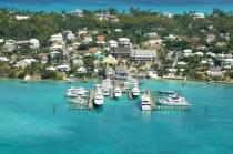 aerial imagery of Valentine's Resort & Marina Harbour Island North Eleuthera, Bahamas BS