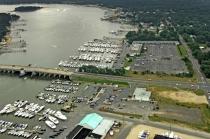 aerial imagery of Crystal Point Marina Pt Pleasant Boro NJ US