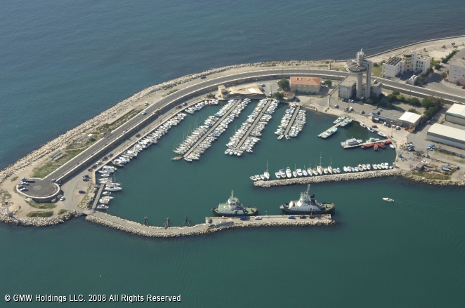port de bouc marina in provence alpes cote d azur